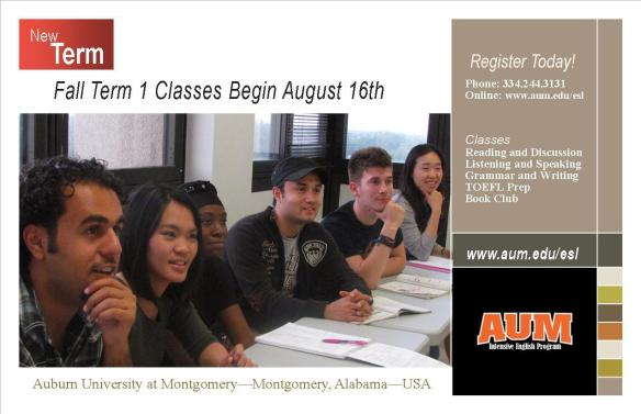 Fall Term 1 Classes Begin August 16th