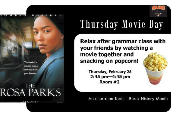 Thursday Movie Day, 2/28/13