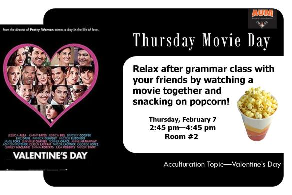 2.7.13 - Thursday Movie Day