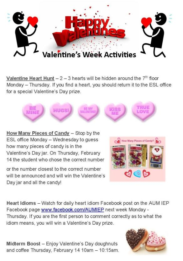 Valentine's Week Activities