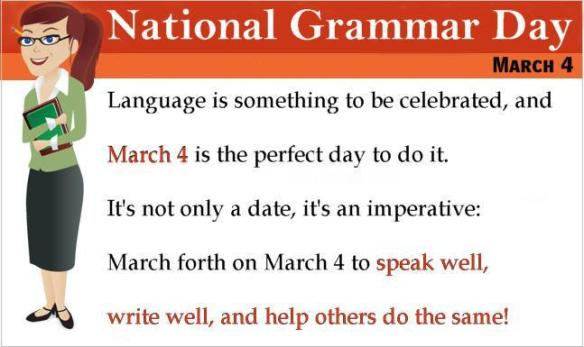 It's National Grammar Day!